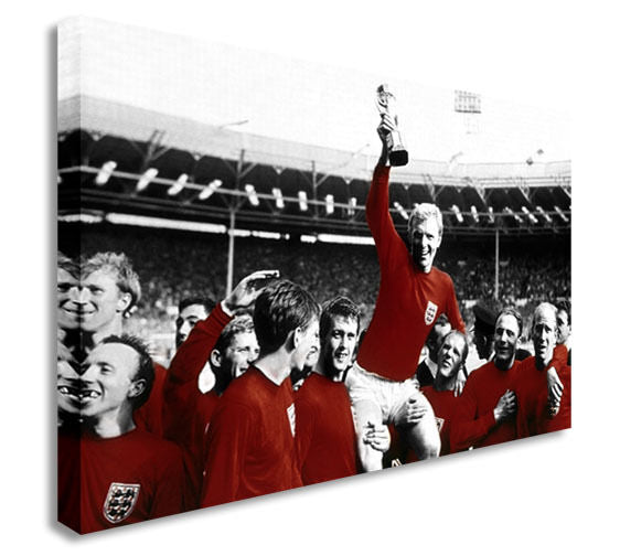 2166 World Cup Winners England -Canvas Wall Art Picture Print