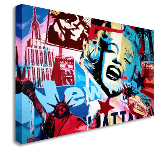 Marilyn Monroe New York Canvas Wall Art Picture Print