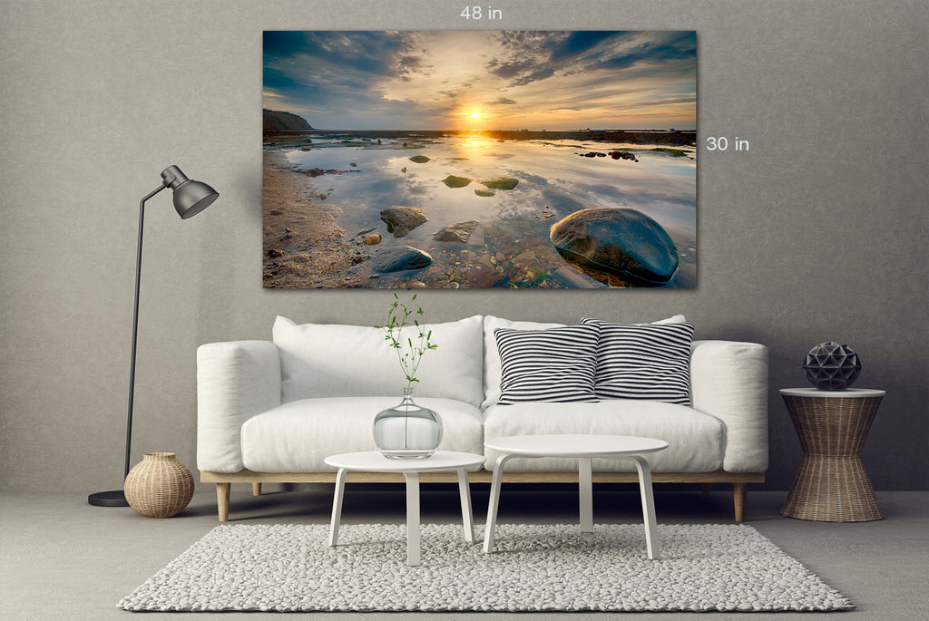 Robin Hood's Bay UK Canvas Wall Art Picture Print