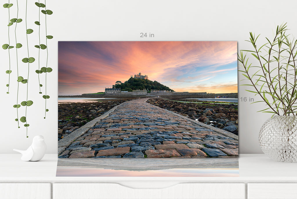 St Michaels Mount near Penzance in Cornwall Canvas Wall Art Picture Print
