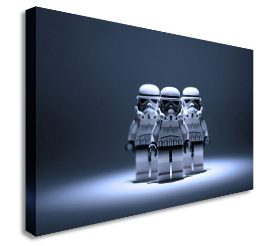 Star Wars Lego Stormtrooper Canvas Wall Art Picture Print