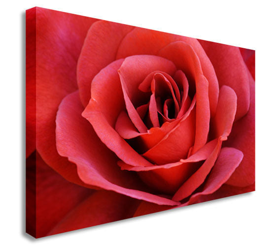 Intense Red FlowingCanvas Wall Art Picture Print