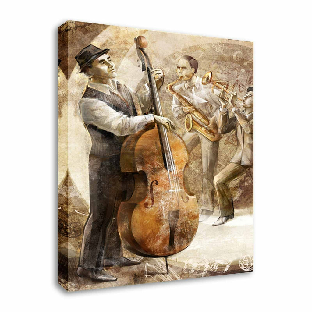 Jazz Pensive Base Canvas Wall Art Picture Print