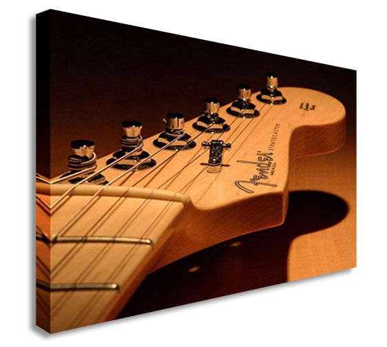 Fender Guitar Head Tabs Canvas Wall Art Picture Print
