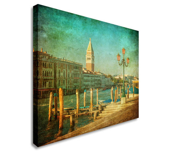 Venice Italy Canal Canvas Wall Art Picture Print