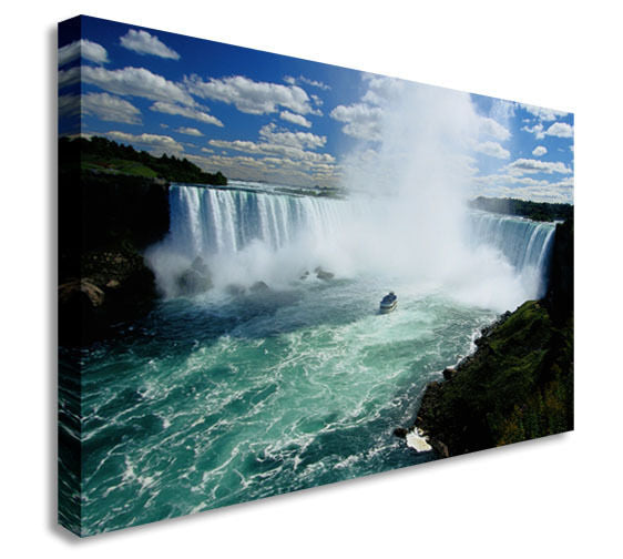 Niagara Falls Waterfall Landscape Canvas Wall Art Picture Print