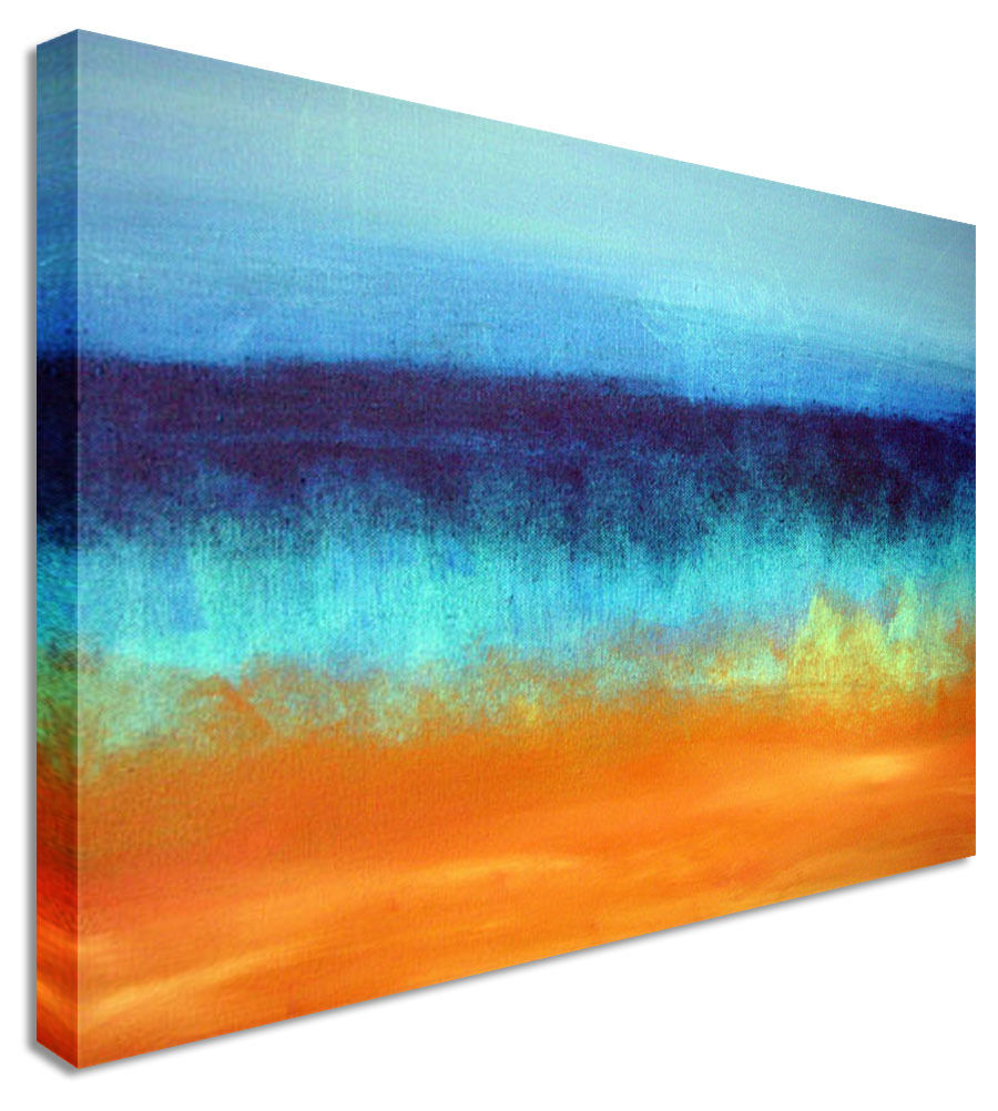Warm Colours Abstract Sunset Canvas Wall Art Picture Print