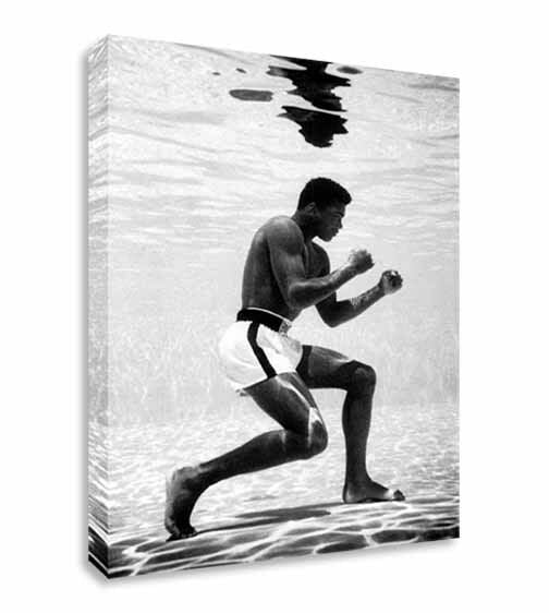 Muhammad Ali Training Underwater Canvas Wall Art Picture Print