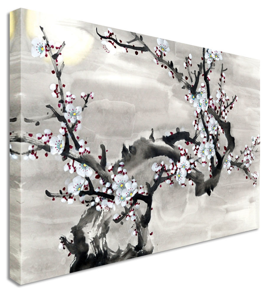 Japanese / Chinese Painting Cherry Blossom  Canvas Wall Art Picture Print