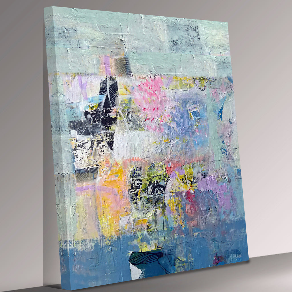 Contemporary Modern Portrait Abstract Love Canvas Wall Art Picture Print