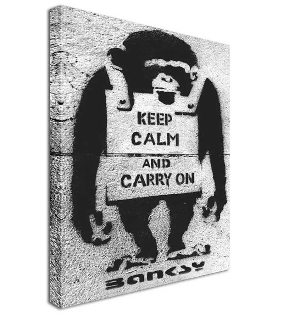 Banksy Monkey Keep Calm