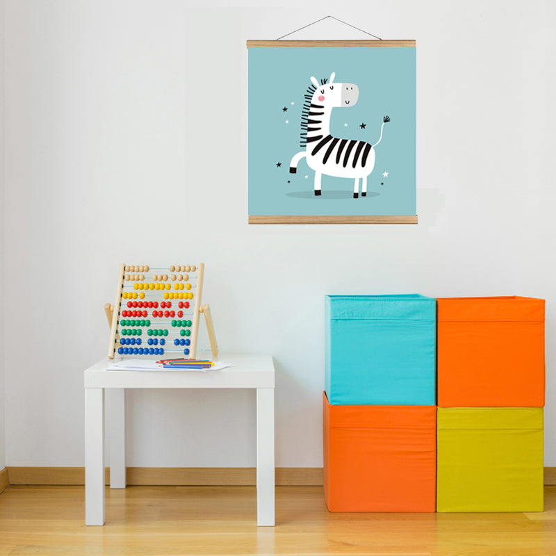 zebara art print kids nursery