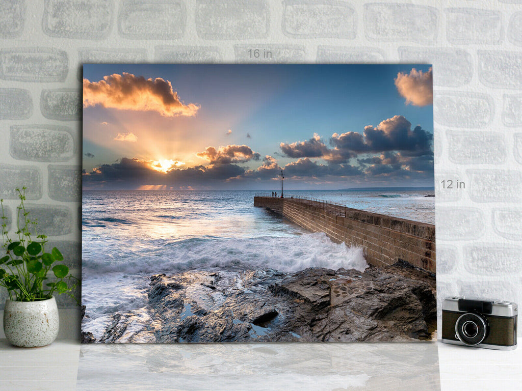 Porthleven on the Cornwall coast sunset