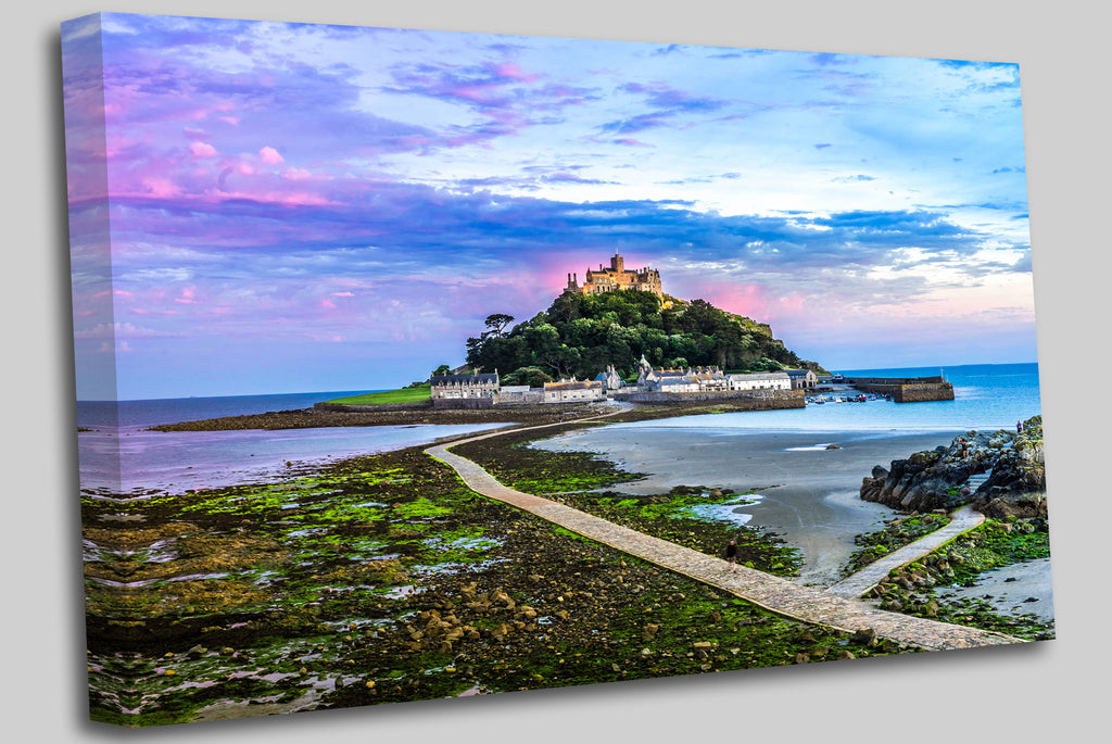 St.Michaels Mount, Cornwall England Canvas Wall Art Picture Print