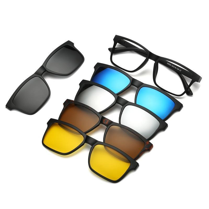5 in 1 Magnetic Lens Sunglasses default 5 in 1 Magnetic Lens Sunglasses 2
