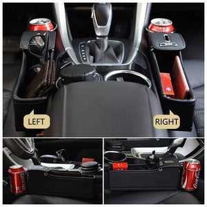 Car Seat Crevice Storage Box Car Seat Crevice Storage Box Black