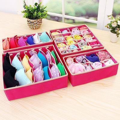 CONET™: FOLDABLE CLOSET UNDERWEAR ORGANIZER (4PCS/SET) CONET™: FOLDABLE CLOSET UNDERWEAR ORGANIZER (4PCS/SET) Pink