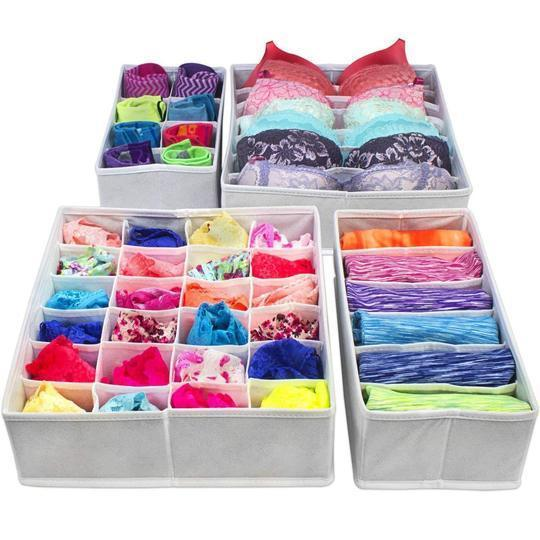 CONET™: FOLDABLE CLOSET UNDERWEAR ORGANIZER (4PCS/SET) CONET™: FOLDABLE CLOSET UNDERWEAR ORGANIZER (4PCS/SET) White