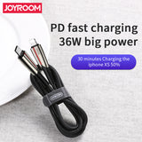 Joyroom Roma Series PD fast charging Cable 1.2M S-M417 1.2M - Black