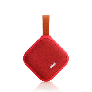 Remax RB-M15 Portable Fabric Bluetooth Speaker support TF Card playing - Red