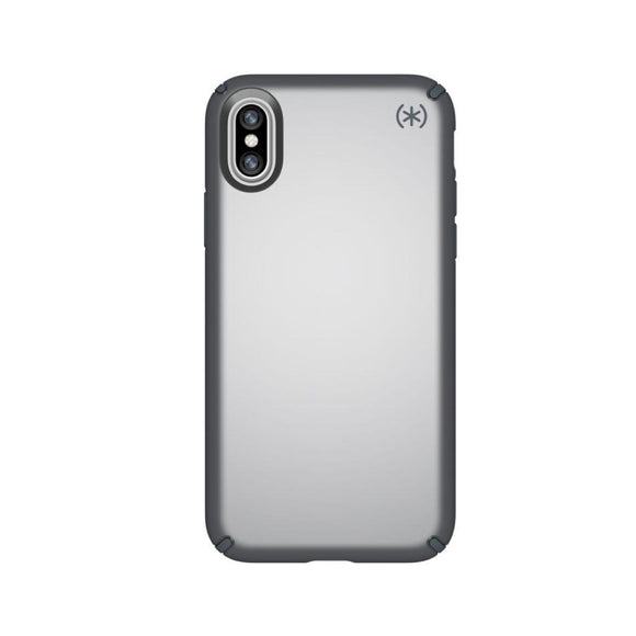 Speck (Apple Exclusive) Presidio Metallic Case for iPhone X Tungsten Grey Metallic/Stormy - Gray