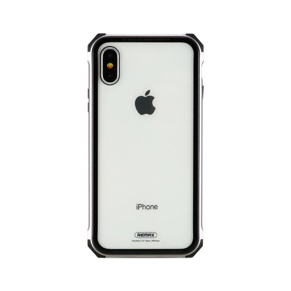 Remax Kooble Servrs Metal&Glass Case RM-1658 for iPhone X - Gray