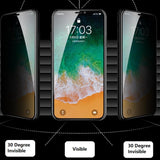 Remax Panshi Privacy Series Temper Glass GL-53 for iPhone XS Max - Black