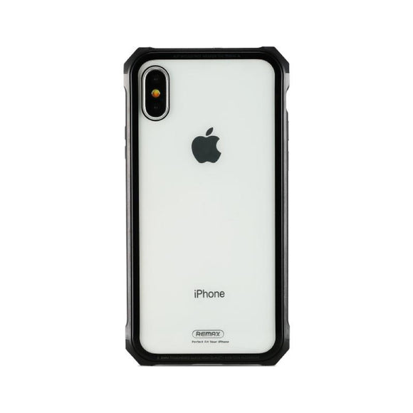 Remax Kooble Servrs Metal&Glass Case RM-1658 for iPhone X - Black