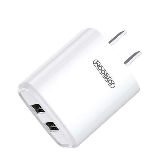 Joyroom Travel Charger L-M226 Single Charger 2.4A 2 USB - White