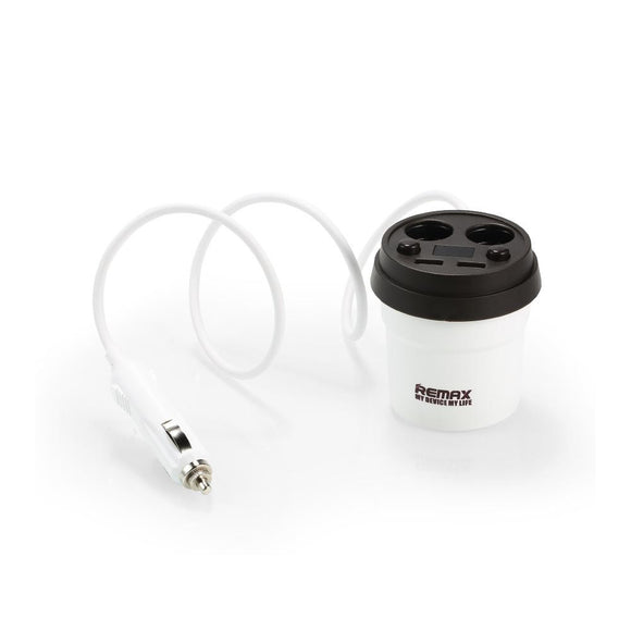 Remax 2USB Demitasse Car Charger CR-2XP - White/Brown