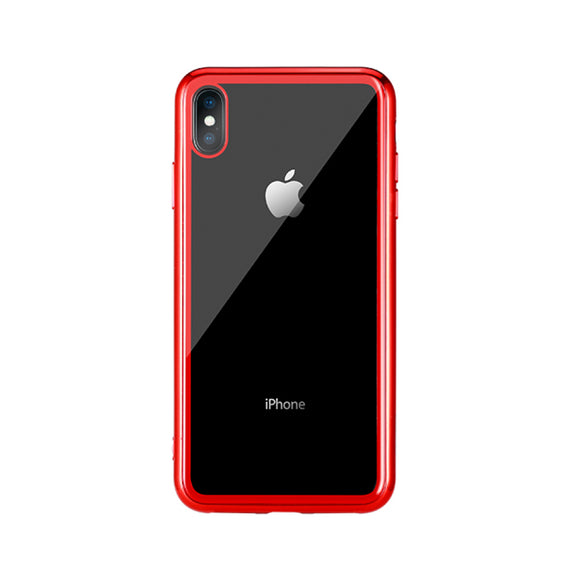Remax Crysden series glass Case RPC-002 for iPhone XS - Red