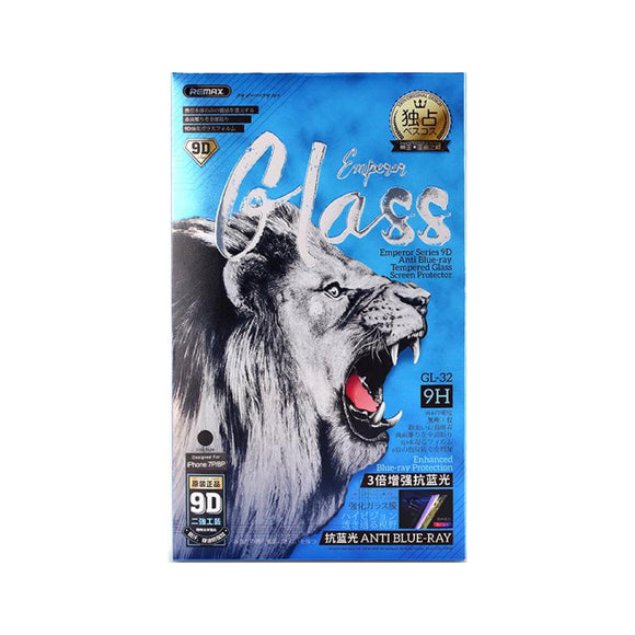 Remax Emperor Series 9D Anti Blue-ray Tempered Glass GL-32 for iPhone 7/8 Plus - Black