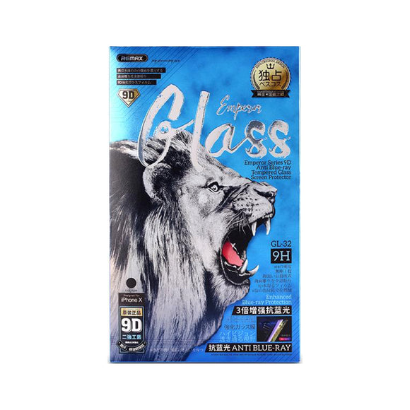 Remax Emperor Series 9D Anti Blue-ray Tempered Glass GL-34 for iPhone XS Max - Black