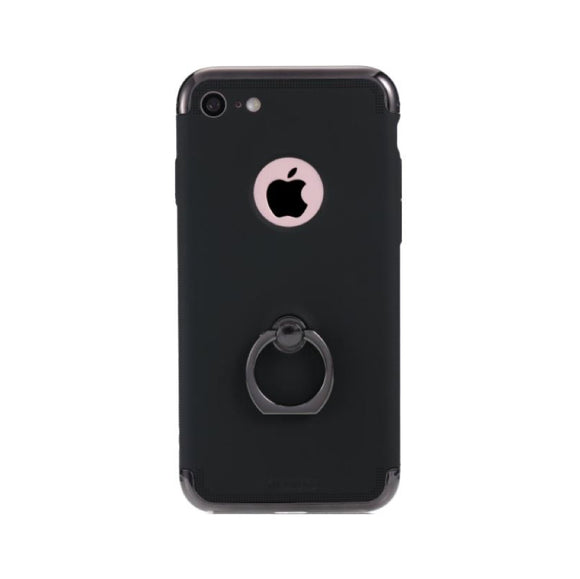 Remax Lock Creative Case for iPhone 7 Plus with Ring - Black