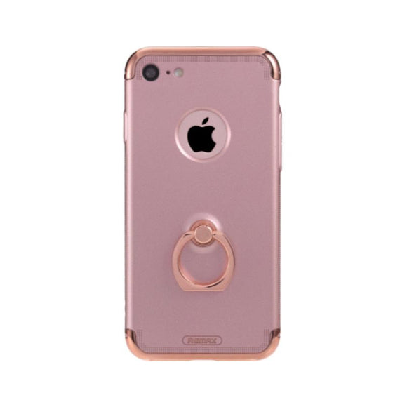 Remax Lock Creative Case for iPhone 7 Plus with Ring - Rose Gold