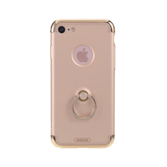 Remax Lock Creative Case for iPhone 7 with Ring - Gold