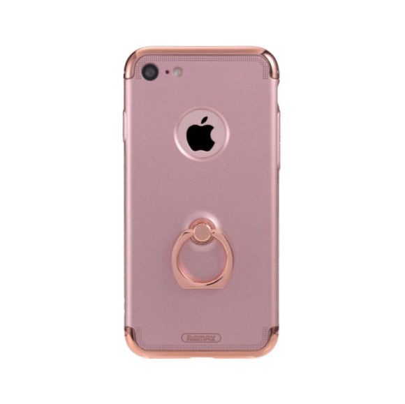 Remax Lock Creative Case for iPhone 7 with Ring - Rose Gold