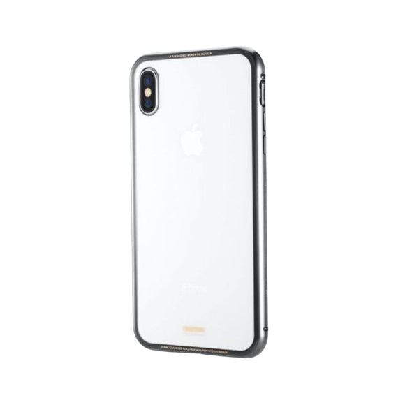Remax Magnets Pro series 360° protection Set Screen Protector + phone Case RM-1672 for iPhone X/XS - Gray