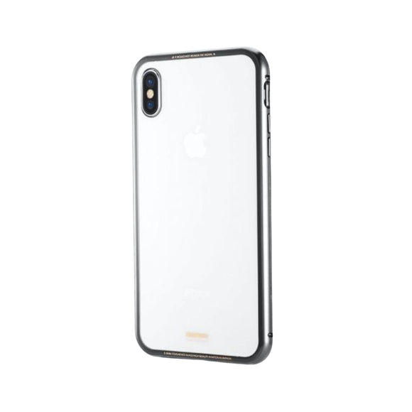 Remax Magnets Pro series 360° protection Set Screen Protector + phone Case RM-1672 for iPhone XS Max - Gray