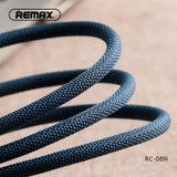 Remax Metal Data Cable 2.4A for Lightning RC-089i - Black