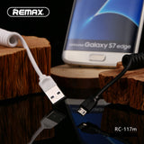 Remax Radiance Pro Data Cable for Micro USB RC-117m Coil Spring Version - White