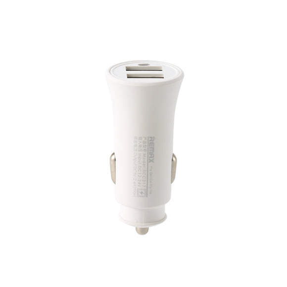 Remax Rocket Car Charger Set RCC-217 2.4A with 3-in-1 Cable - White