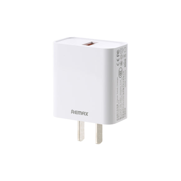 Remax Suji Series 3.0A Single USB Charger Adaptor RP-U113 - White