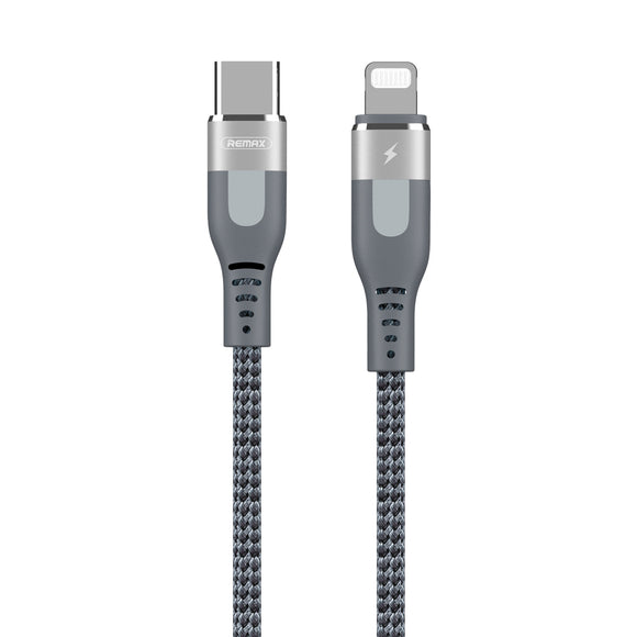 Remax Super PD Fast Charging Type-C To Lightning Data Cable RC-151CL - Silver