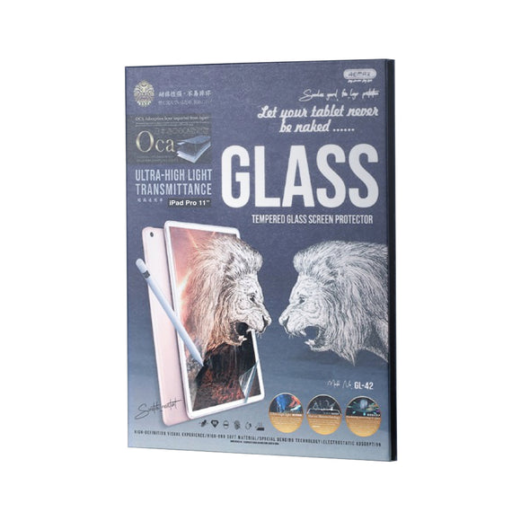 Remax Ultra High Light Transmittance Temper Glass GL-42 for iPad Pro 11.0 - Transparent