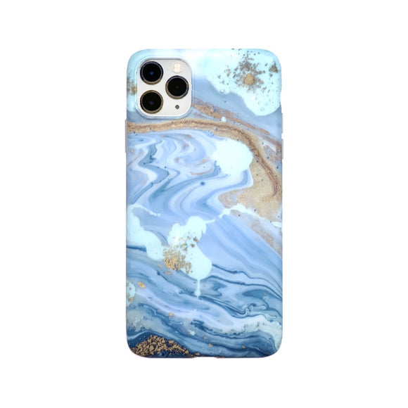 CaseMania Case 15 for iPhone 11 - Blue/Sand