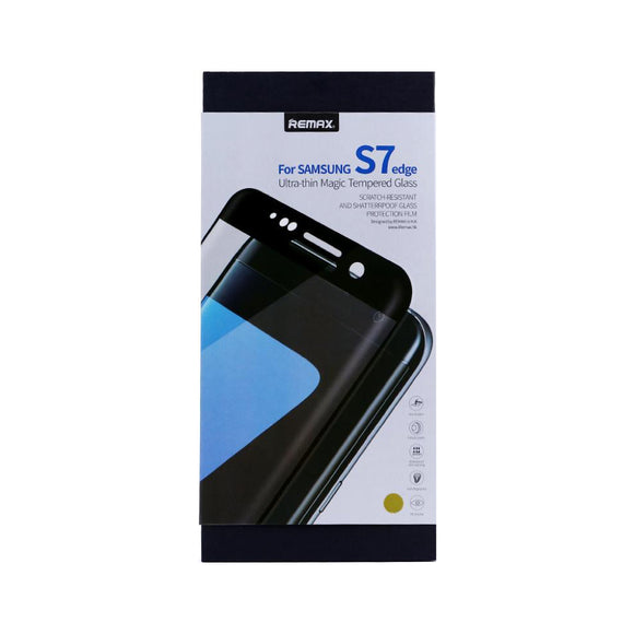 Top Series for Samsung S7 Edge 3D Curved Tempered Glass - Black