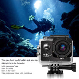 Nello Action Camera 4K v3 + SONY IMX 179 + Remote Control X2QS-R - Black