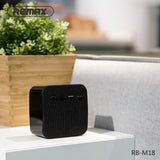 Fabric Portable Bluetooth Speaker RB-M18 - Black