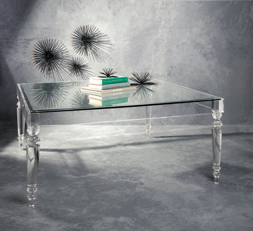 NK Devaro Oversized Acrylic and Glass Coffee Table
